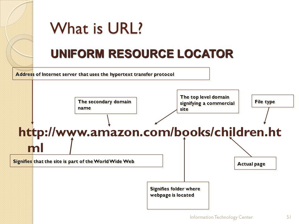 What is URL http://www.amazon.com/books/children.ht ml