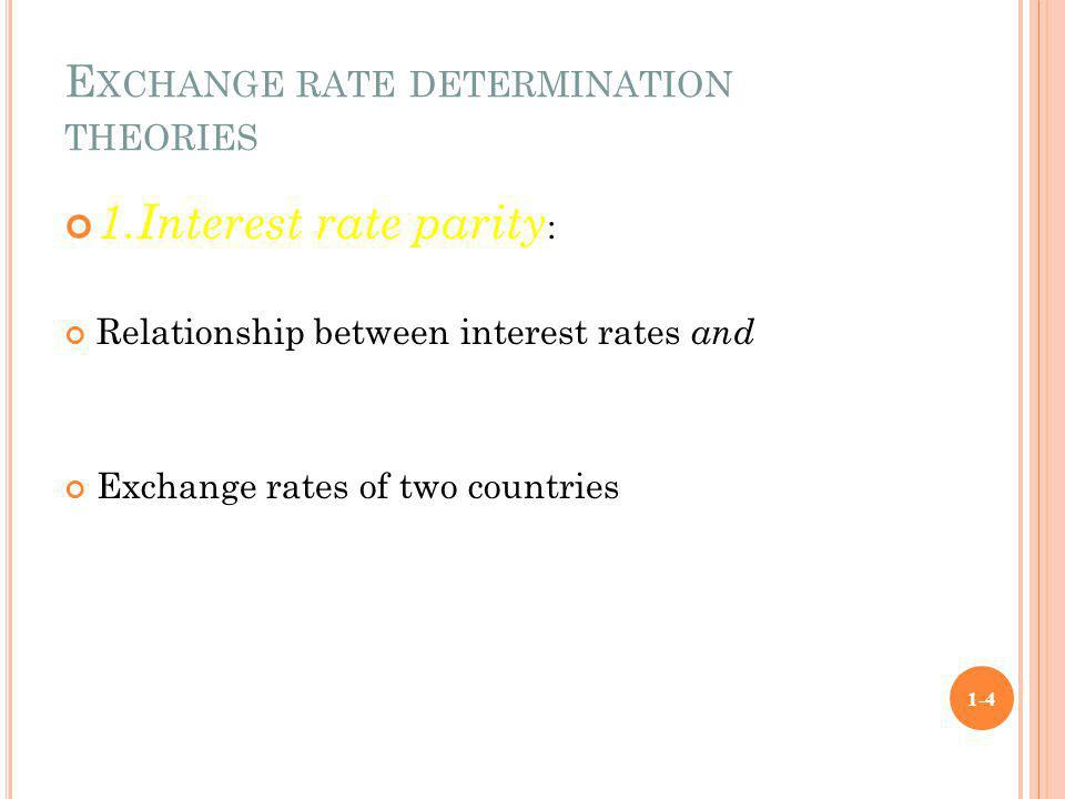 Exchange rate determination theories