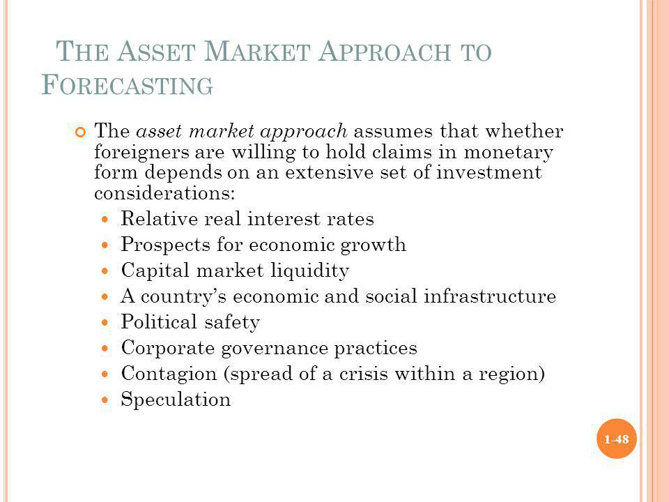The Asset Market Approach to Forecasting