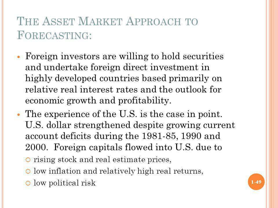 The Asset Market Approach to Forecasting: