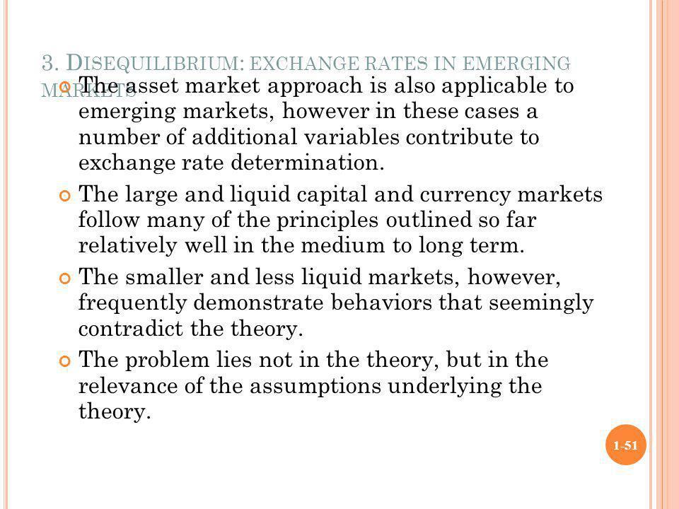 3. Disequilibrium: exchange rates in emerging markets