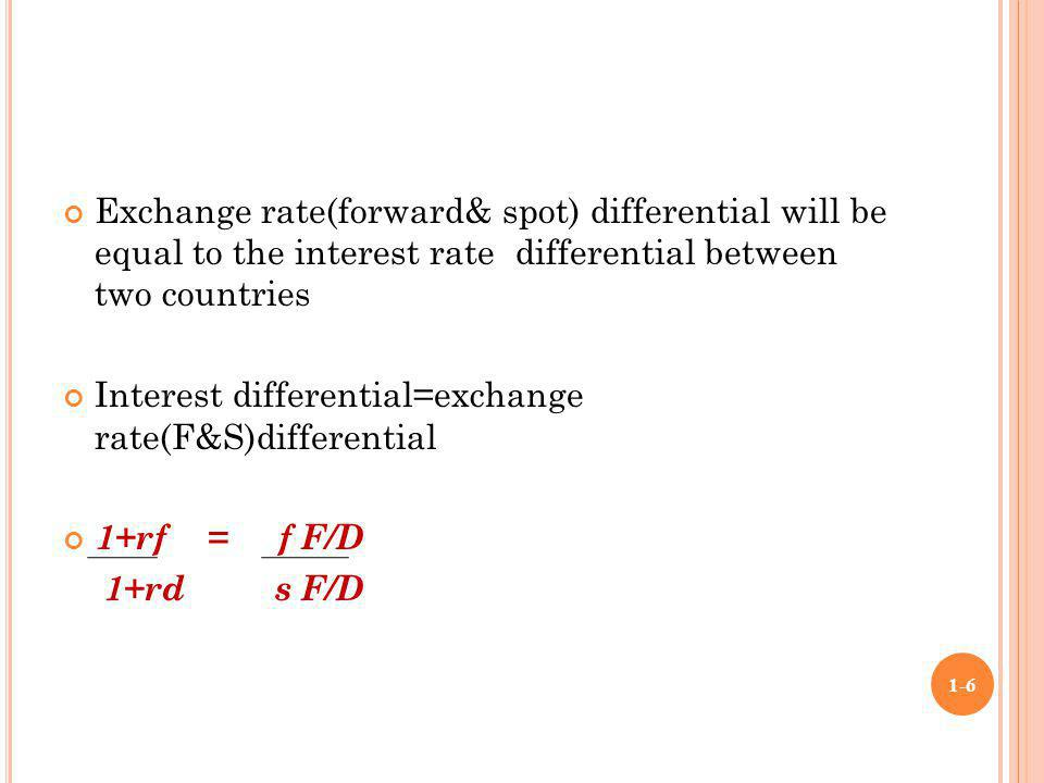 Fx options interest rate differential