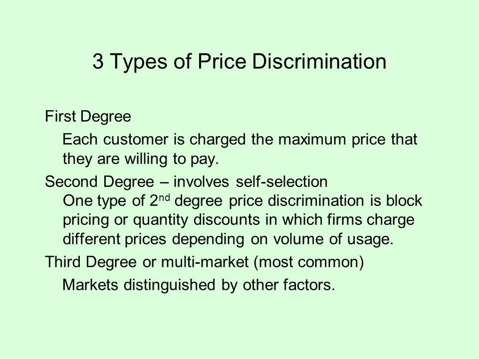 3 Types of Price Discrimination