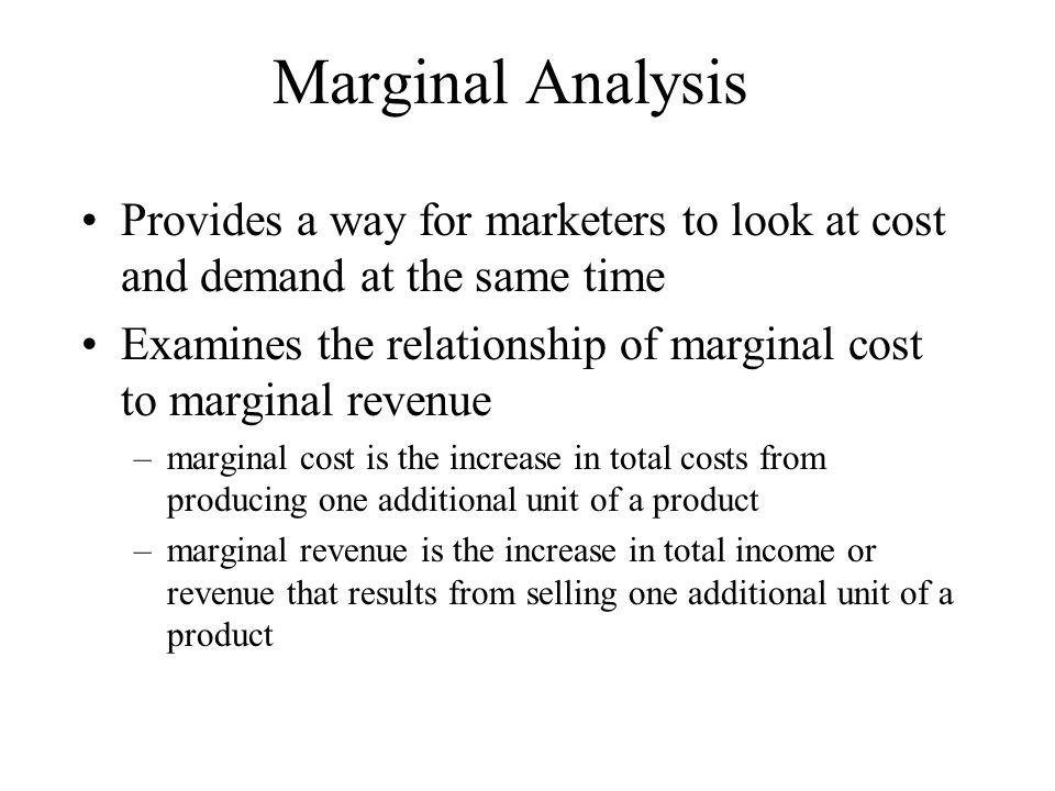 marginal revenue and cost relationship to total