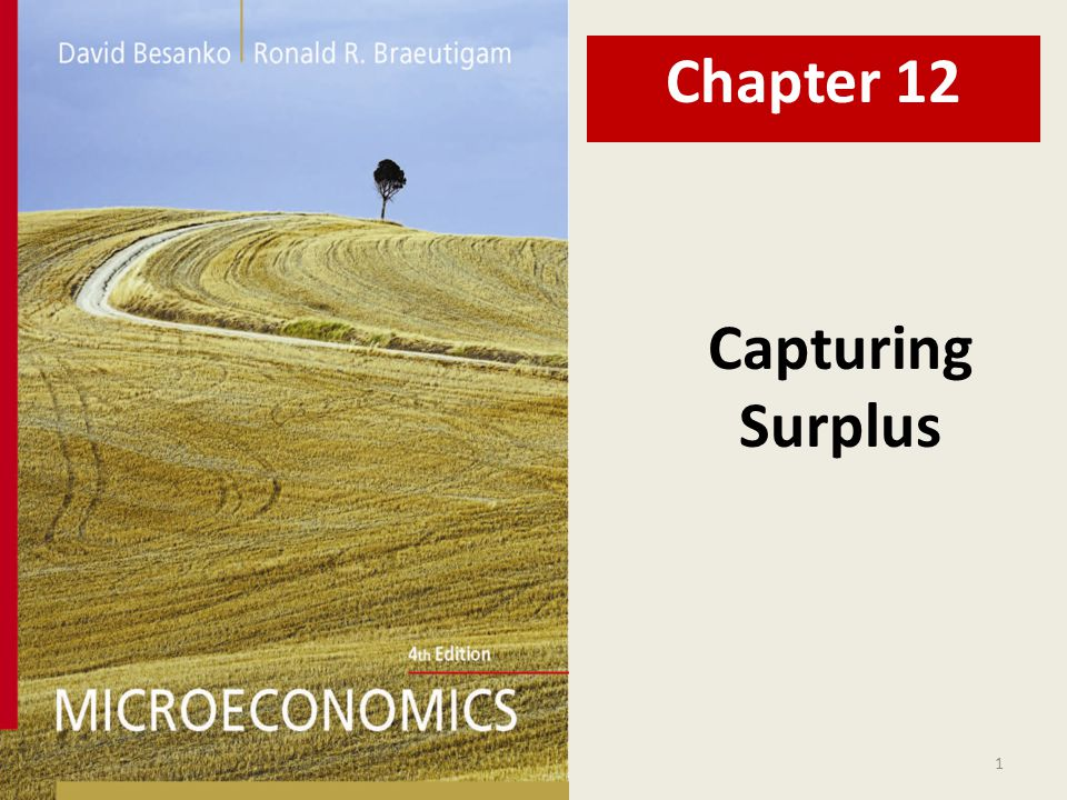 Chapter 12 Capturing Surplus