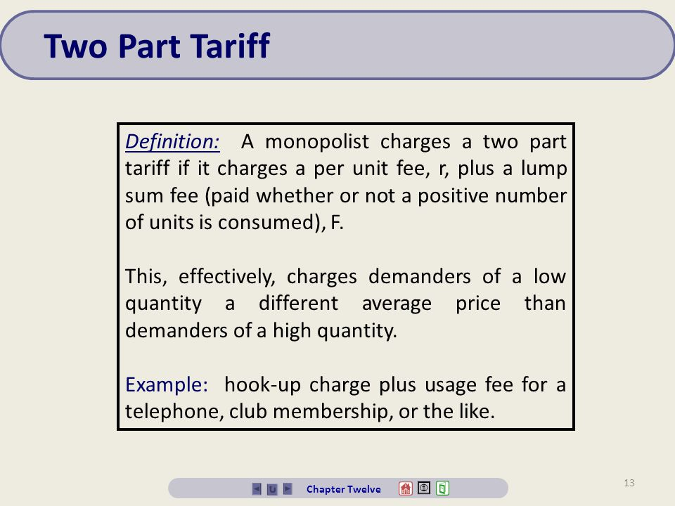 Two Part Tariff
