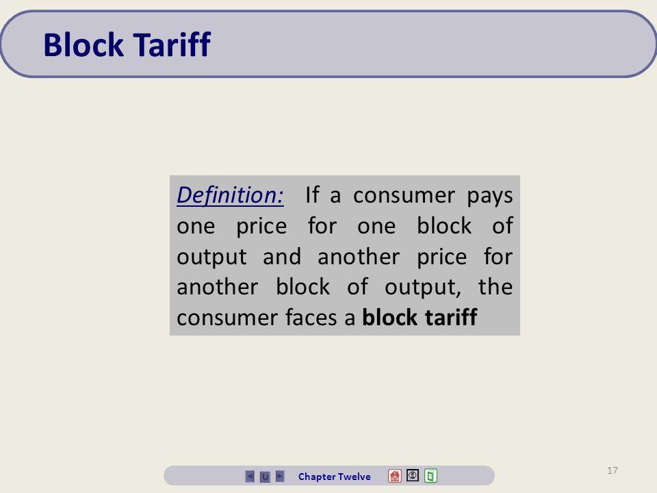 Block Tariff