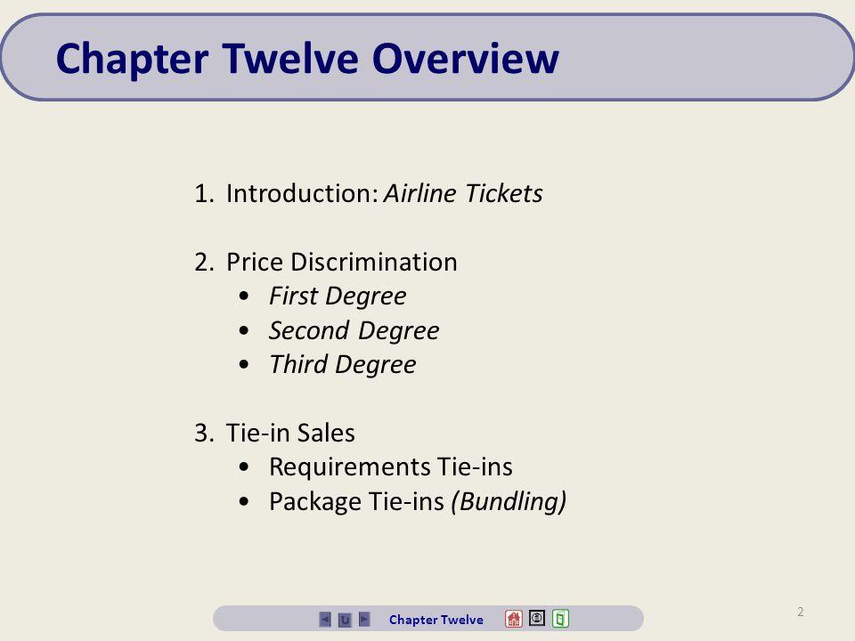 Chapter Twelve Overview