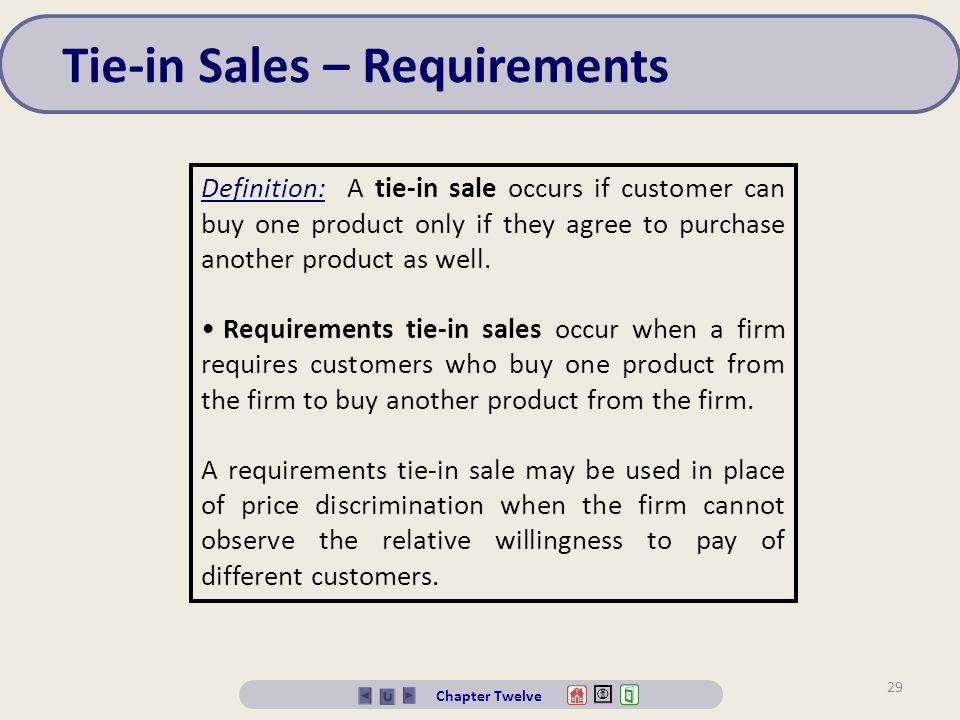 Tie-in Sales – Requirements