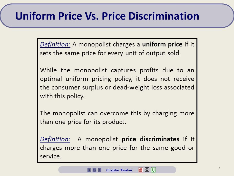 Uniform Price Vs. Price Discrimination