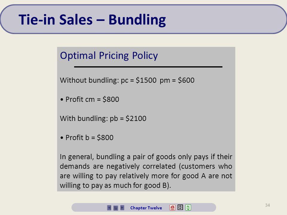 Tie-in Sales – Bundling