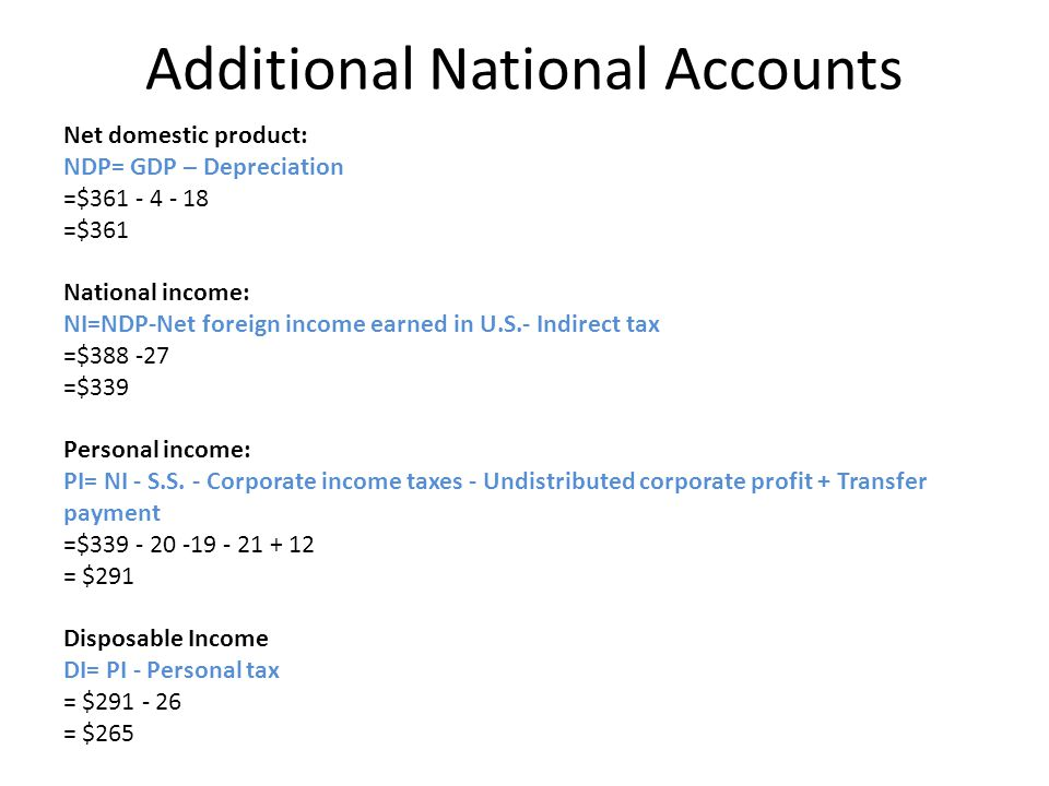 Additional National Accounts