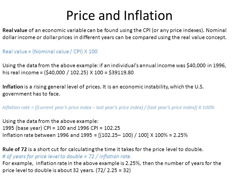 Price and Inflation