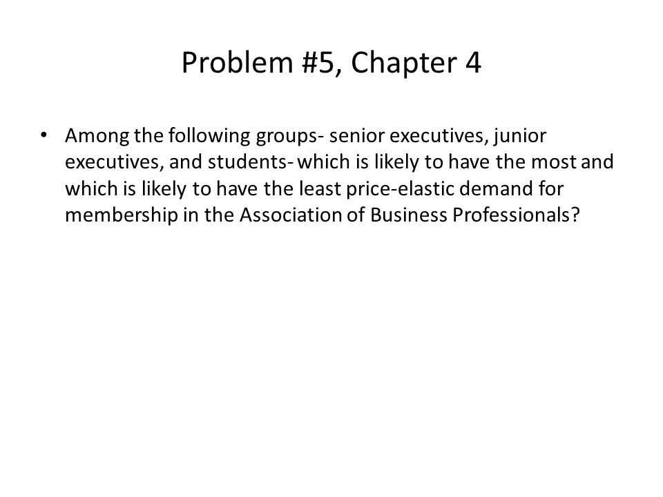 Problem #5, Chapter 4
