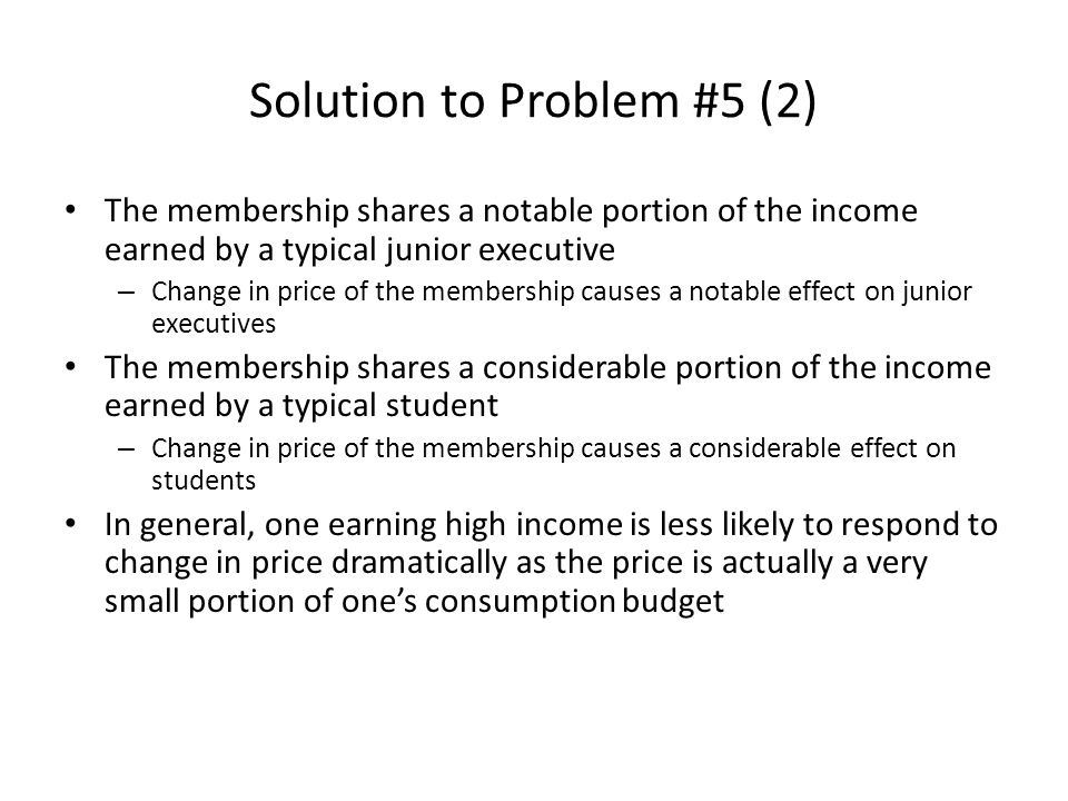 Solution to Problem #5 (2)