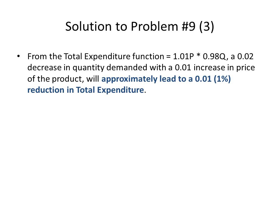 Solution to Problem #9 (3)