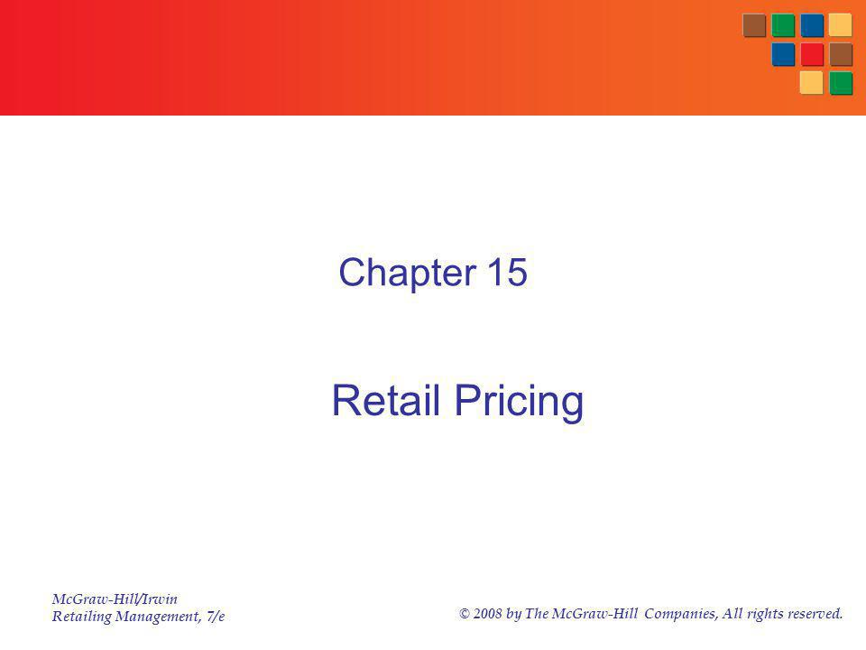 Chapter 15 Retail Pricing