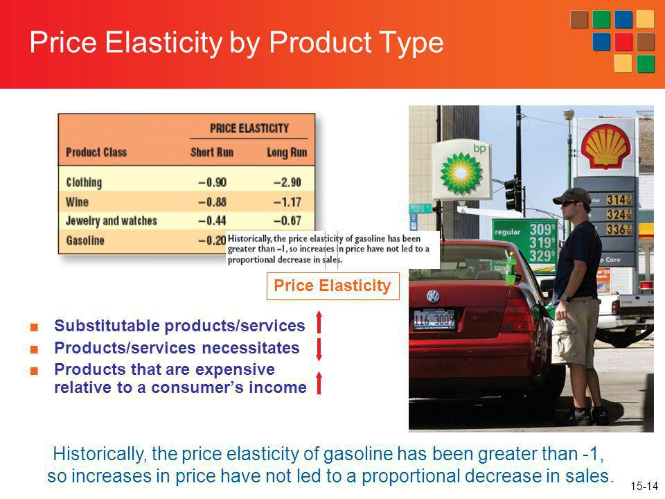 Price Elasticity by Product Type