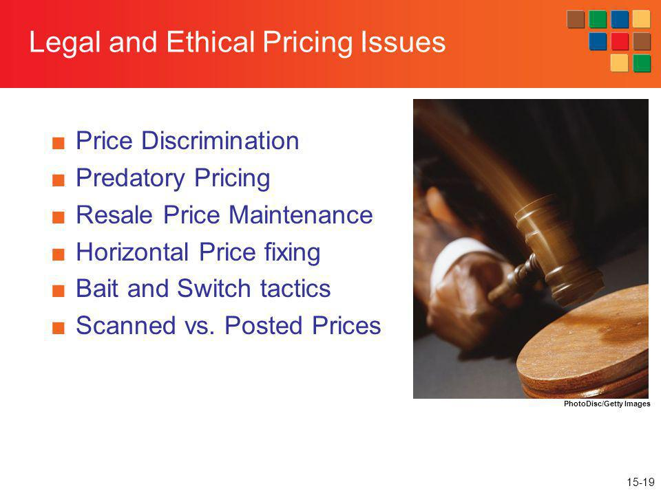 Legal and Ethical Pricing Issues