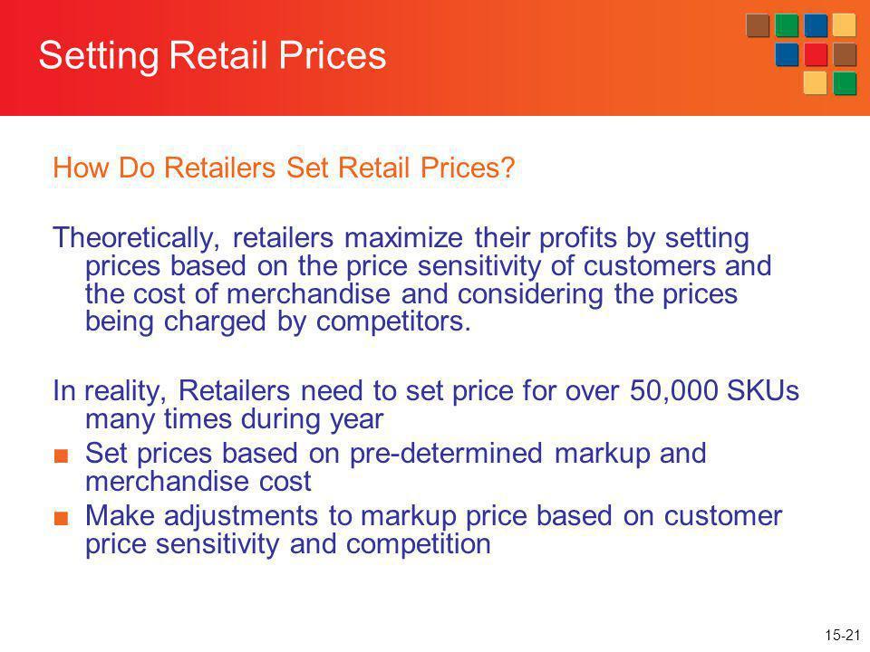 Setting Retail Prices How Do Retailers Set Retail Prices