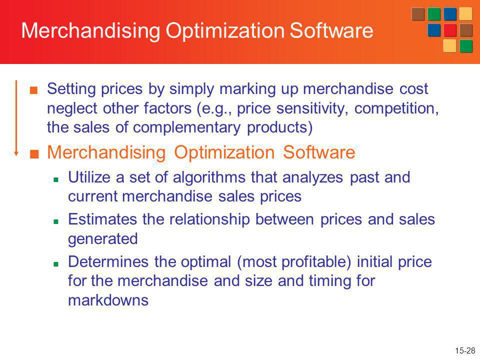 Merchandising Optimization Software
