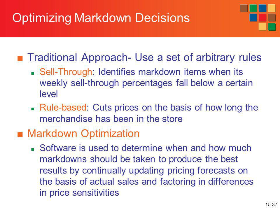 Optimizing Markdown Decisions