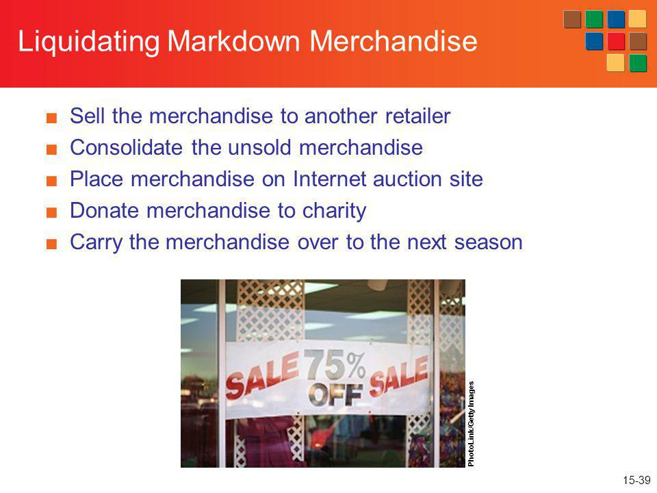 Liquidating Markdown Merchandise