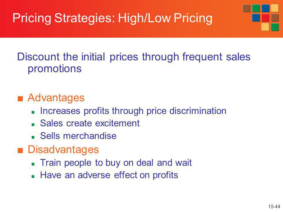 Pricing Strategies: High/Low Pricing