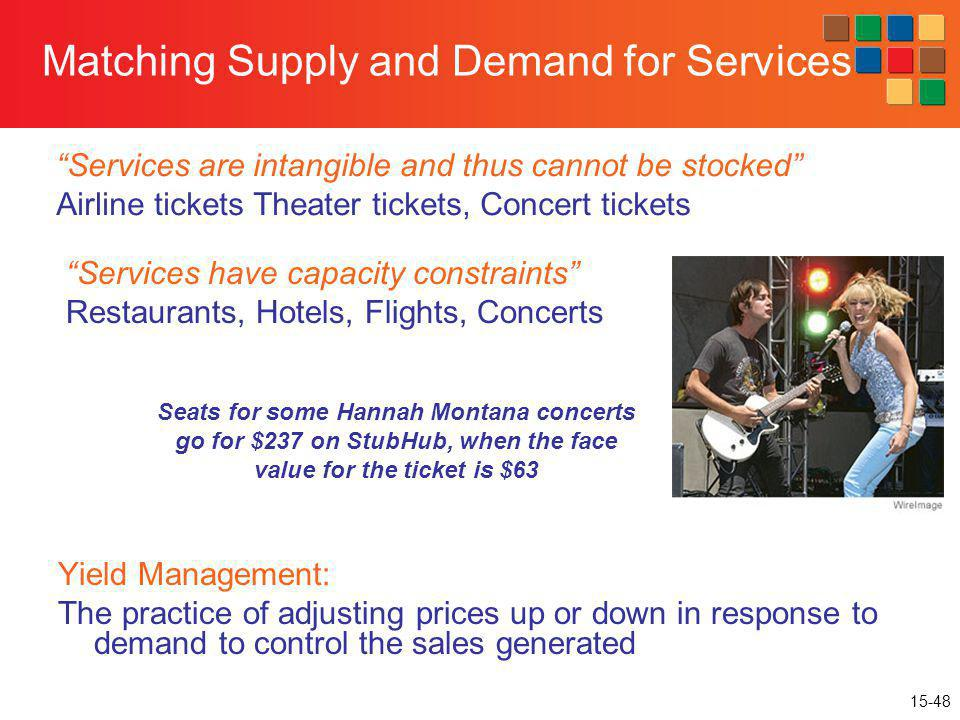 Matching Supply and Demand for Services