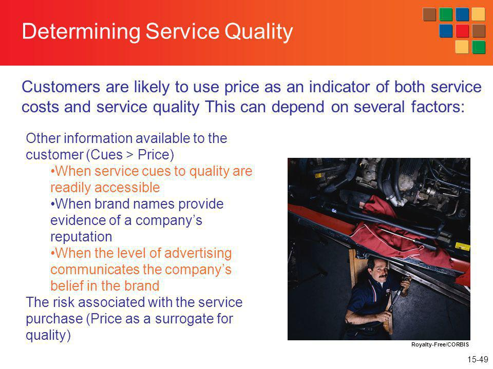 Determining Service Quality