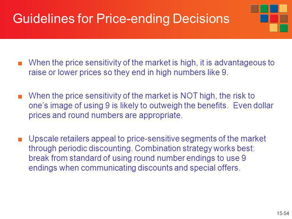 Guidelines for Price-ending Decisions