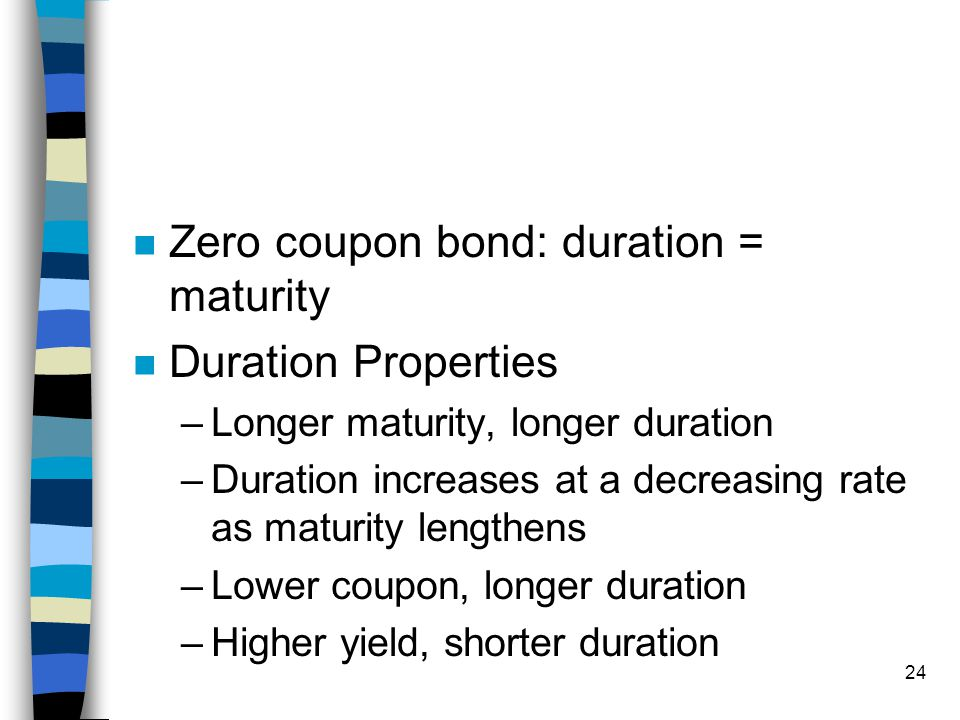 Calculate modified duration zero coupon bond