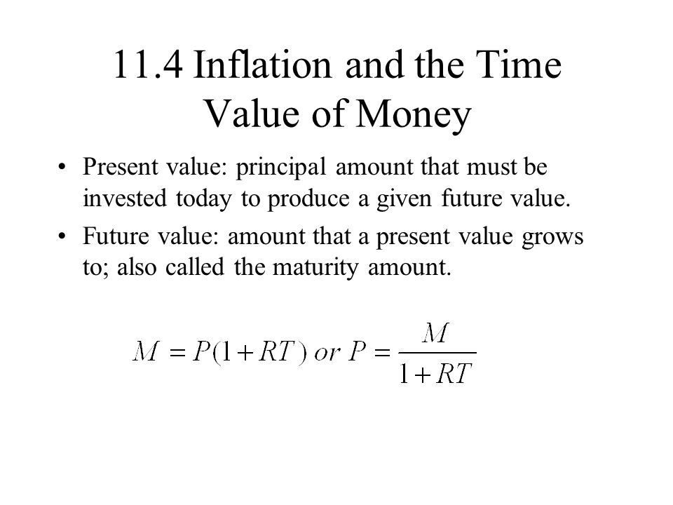 11.4 Inflation and the Time Value of Money