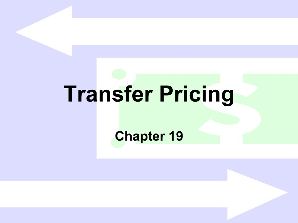 Transfer Pricing Chapter 19