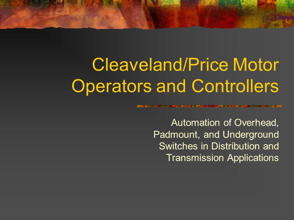 Cleaveland/Price Motor Operators and Controllers