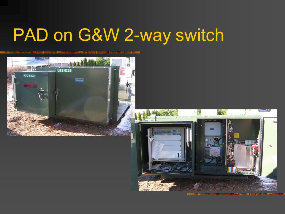 PAD on G&W 2-way switch