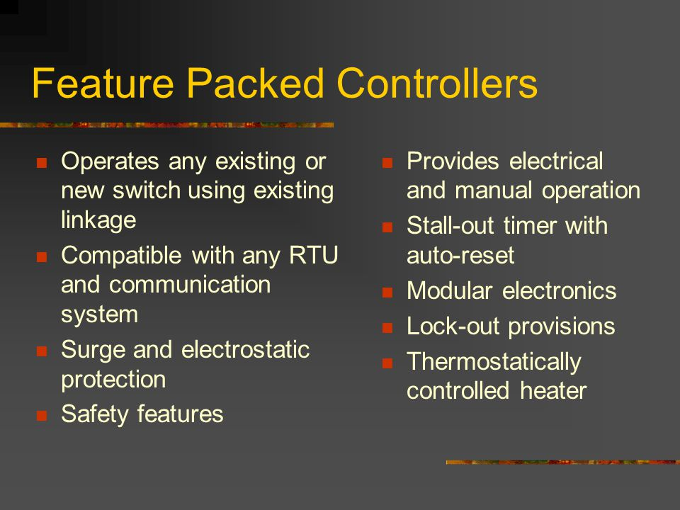 Feature Packed Controllers