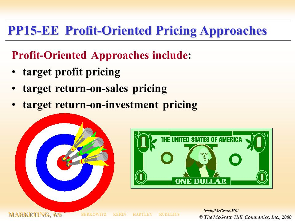 PP15-EE Profit-Oriented Pricing Approaches