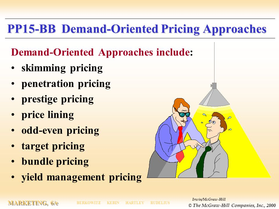 PP15-BB Demand-Oriented Pricing Approaches