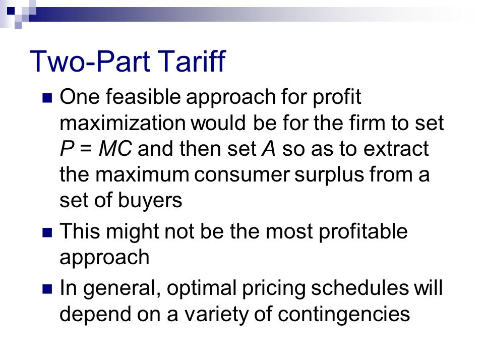 Two-Part Tariff