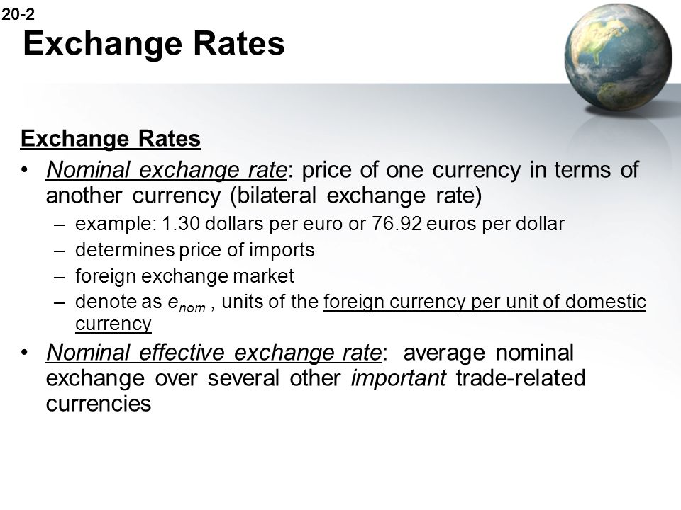 Exchange Rates Exchange Rates