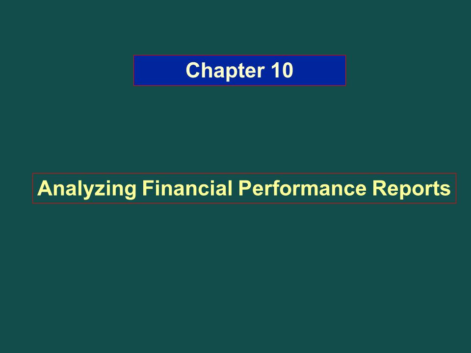 Analyzing Financial Performance Reports