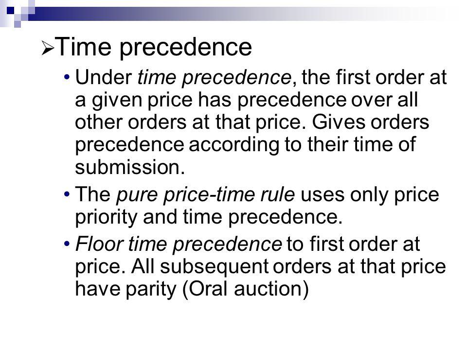 Time precedence