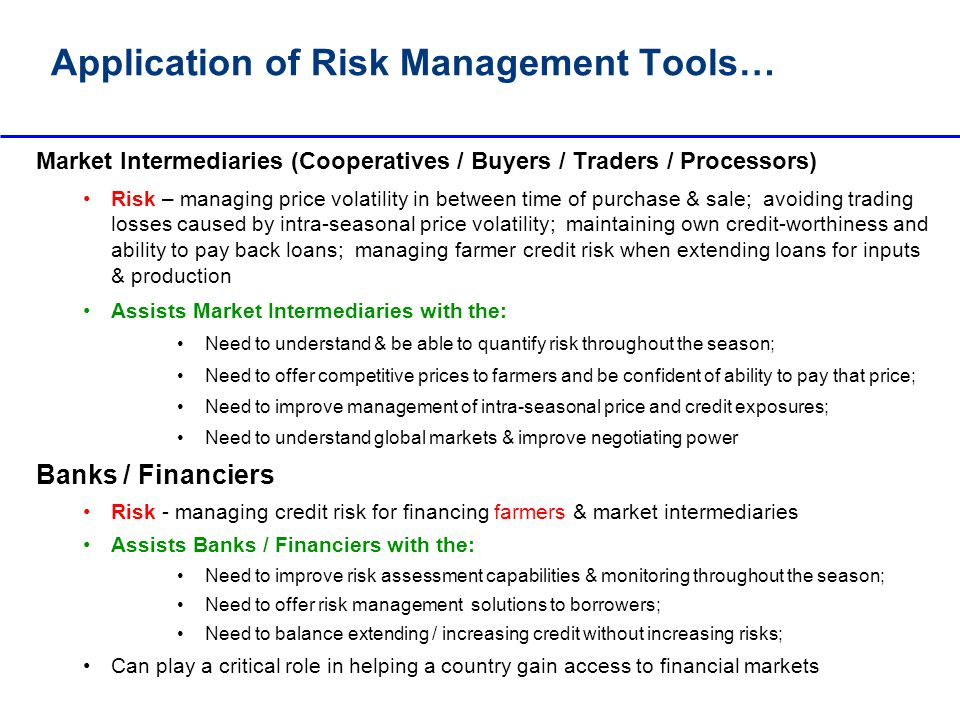 Application of Risk Management Tools…