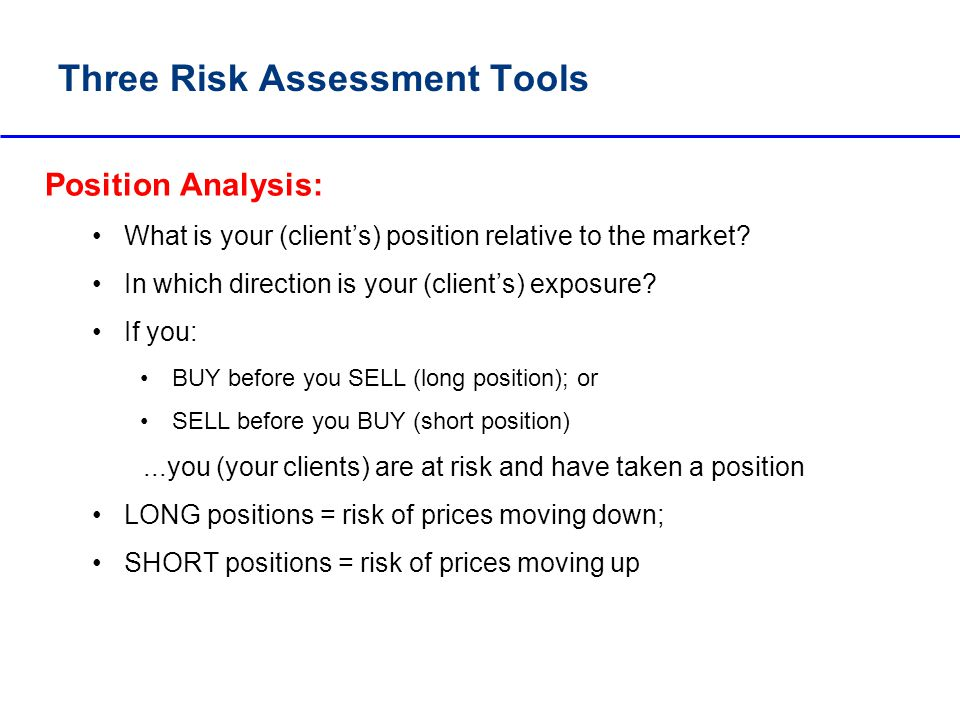 Three Risk Assessment Tools