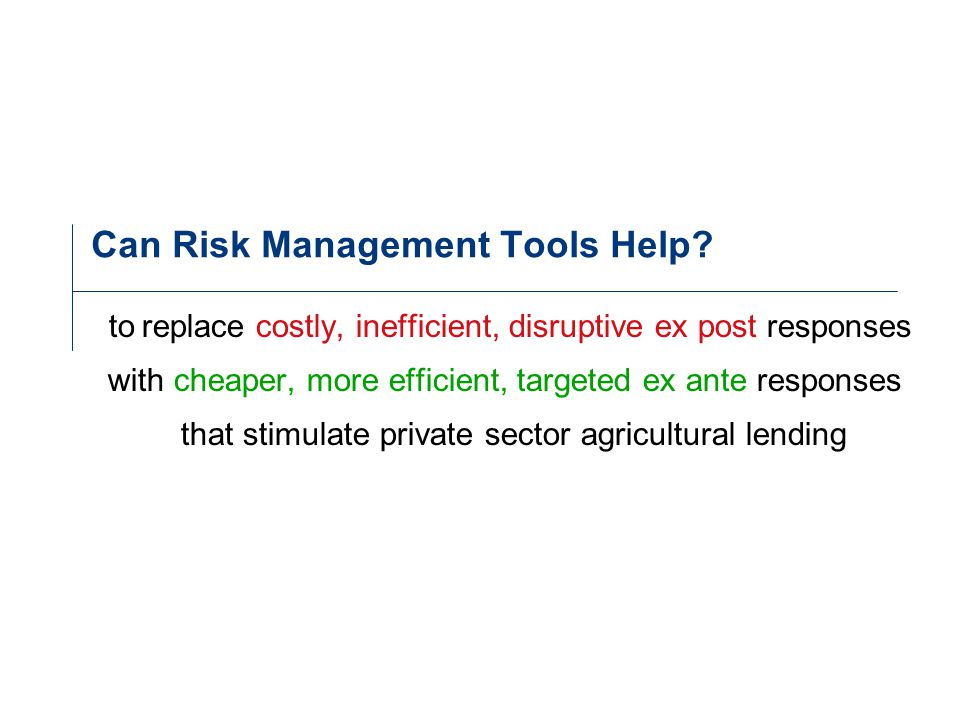 Can Risk Management Tools Help