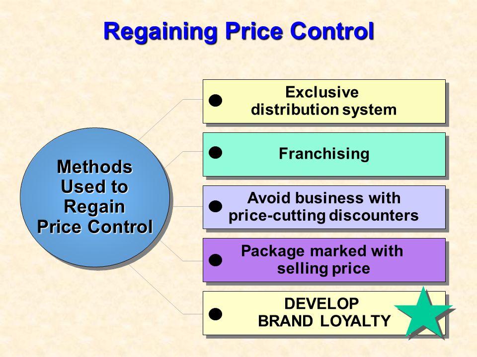 Regaining Price Control