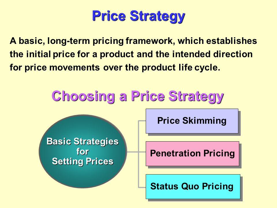 Choosing a Price Strategy