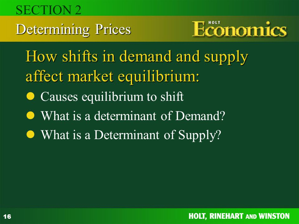 How shifts in demand and supply affect market equilibrium: