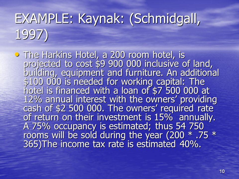 EXAMPLE: Kaynak: (Schmidgall, 1997)